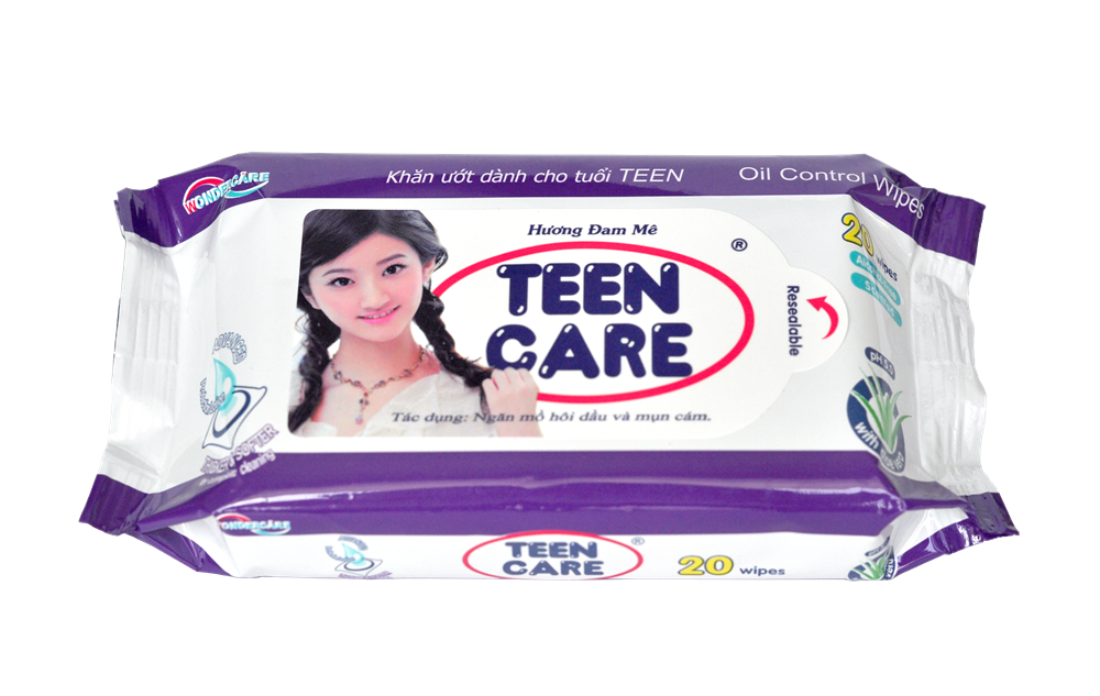 TEENCARE WET WIPES 20 SHEETS-PASSION