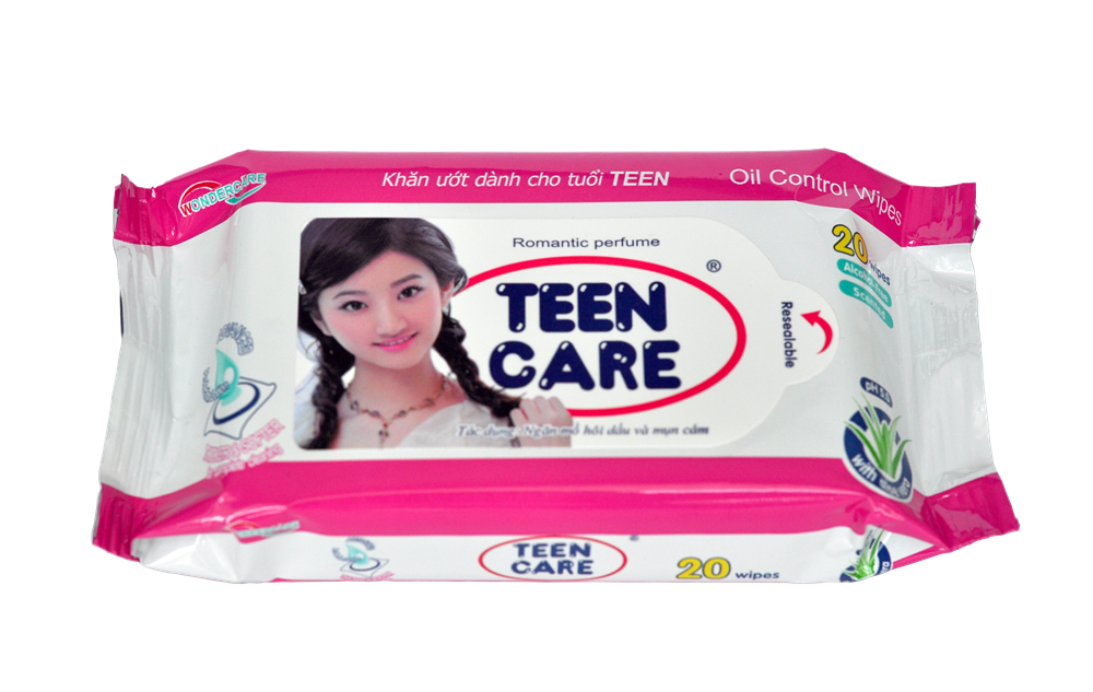 TEENCARE WET WIPES 20 SHEETS-ROMANTIC