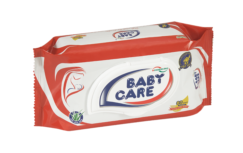 BABY CARE WET WIPES 80 SHEETS POWDER PERFUME (NEW)